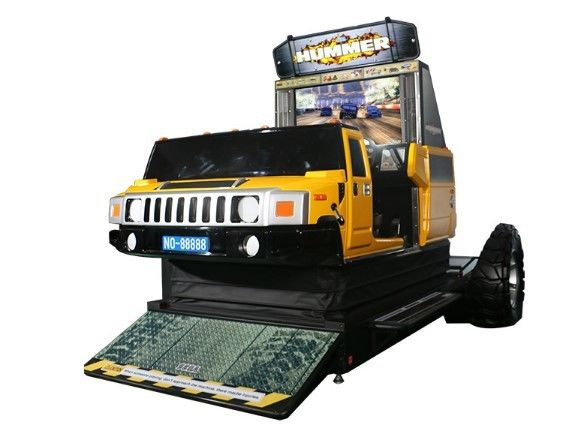 Hummer Car Racing Arcade Game Machines , Metal Commercial Gaming Machines